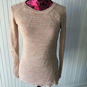 Khaki/Tan Knit Skinny Sweater Size S Lightweight